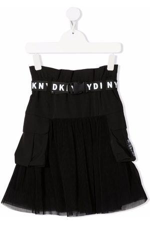 DKNY Logo-print belt skirt