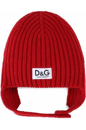 Dolce & Gabbana Ribbed knit wool hat