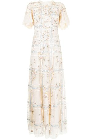 Needle & Thread Antonia sequin-embellished gown - Neutrals
