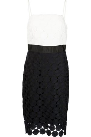 Milly Oversized dot-embroidered dress