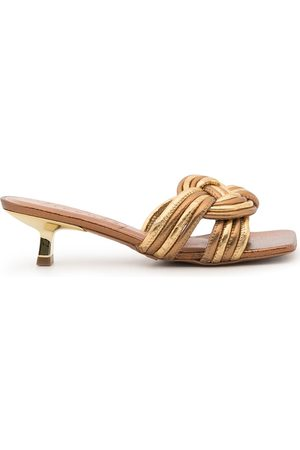 Vicenza Woven leather mules