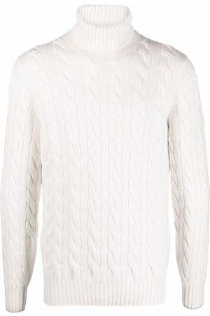 Brunello Cucinelli Cable knit roll-neck jumper - Neutrals