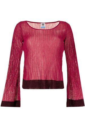 M Missoni Two-tone round neck blouse