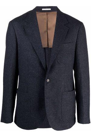 Brunello Cucinelli Single-breasted cupro blazer