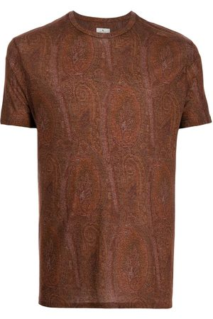 Etro Men Short Sleeve - Paisley-print short-sleeve T-shirt