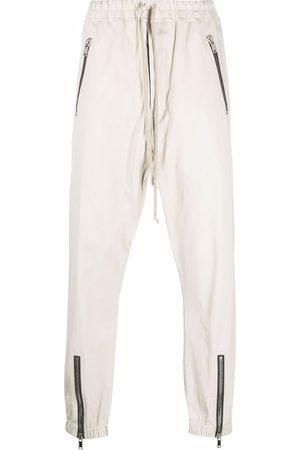 Rick Owens Zip-detail track pants - Neutrals