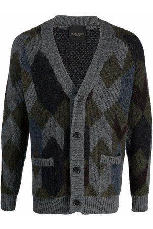 Roberto Collina Geometric knit wool cardigan
