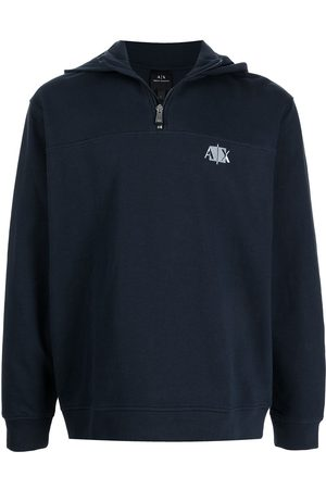 Armani Men Sweatshirts - Logo-print hooded jumper