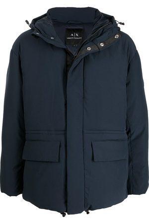 Armani Logo-patch sleeve coat