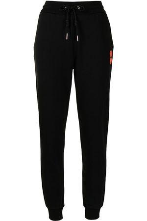 Armani Logo-patch drawstring-waist track pants