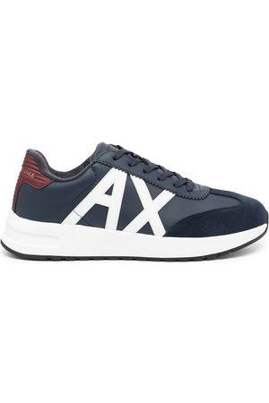 Armani Side logo-patch sneakers