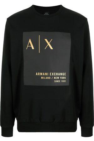 Armani Exchange Logo-print crew neck sweatshirt
