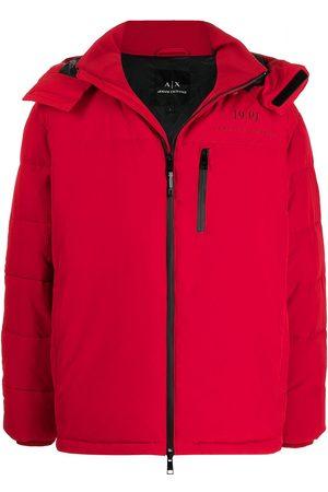Armani Padded zip-up hooded jacket