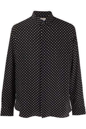 Saint Laurent Men Shirts - Polka dot silk shirt
