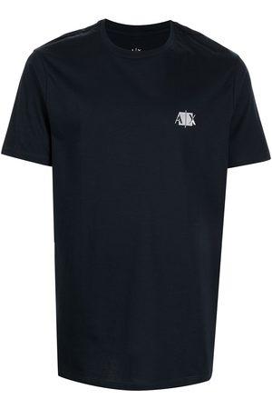 Armani Chest logo-patch T-shirt