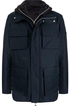 Armani Zip-up hooded jacket