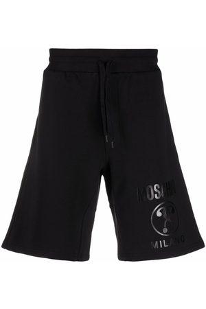 Moschino Men Sports Shorts - Logo-print cotton track shorts