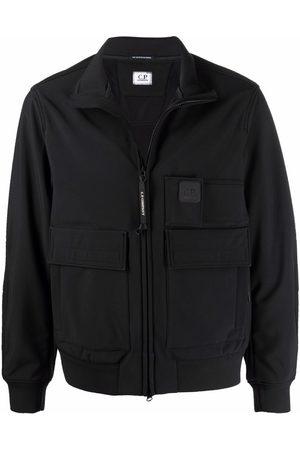 C.P. Company Logo-patch flap-pockets windbreaker jacket