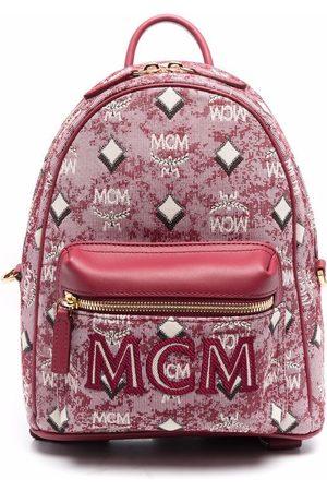 MCM Jacquard-logo backpack