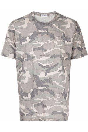 Saint Laurent Men T-shirts - Camouflage-print T-shirt