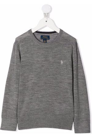 Ralph Lauren Logo-embroidered wool sweater - Grey