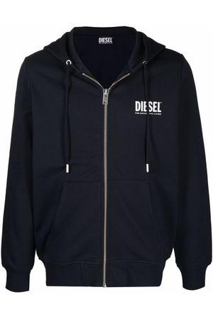 Diesel Men Hoodies - Logo-letter zipped hoodie