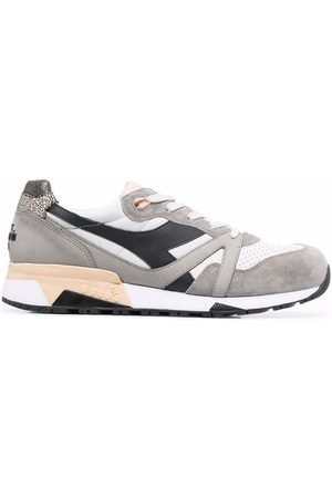 Diadora Heritage suede-panel sneakers - Grey