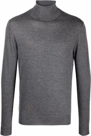 Fedeli Fine-knit roll-neck jumper - Grey