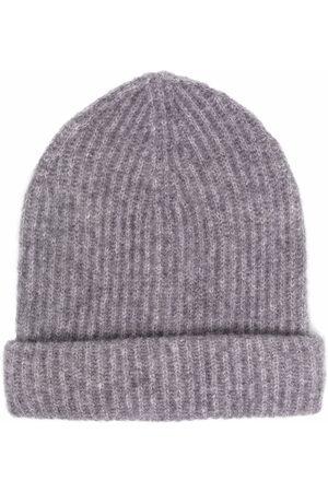 Roberto Collina Ribbed-knit tonal beanie - Grey