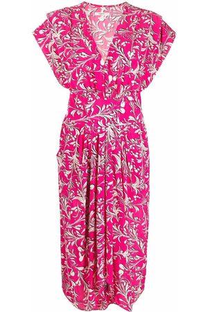Isabel Marant Graphic-print V-neck dress