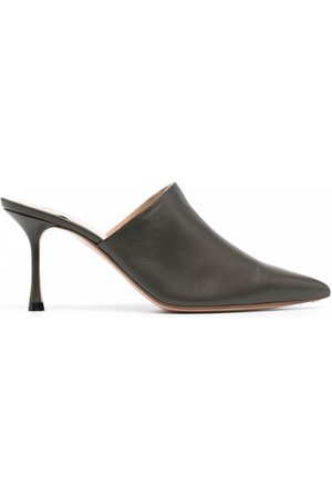 Francesco Russo Pointed toe leather mules
