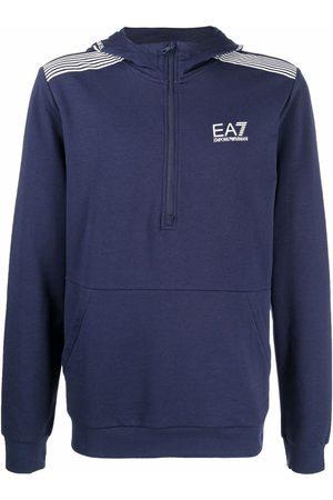 EA7 Logo-print long-sleeve hoodie