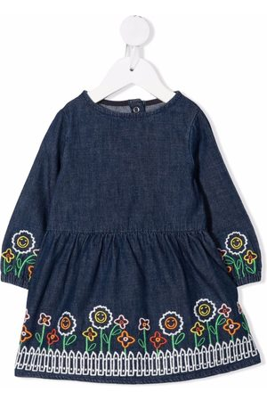 Stella McCartney Floral-embroidered cotton dress