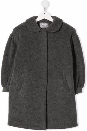 Il gufo Felted virgin wool coat - Grey