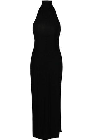 Norma Kamali Side-slit detail halter dress