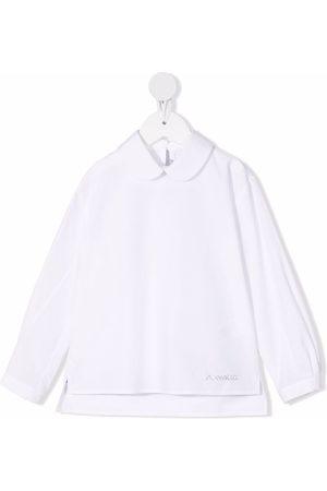 Simonetta Long-sleeved cotton blouse