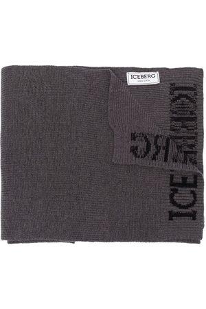 Iceberg Men Scarves - Logo-print scarf - Grey
