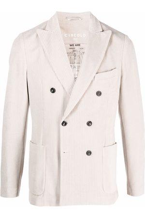 Circolo Pinstripe double-breasted blazer - Neutrals