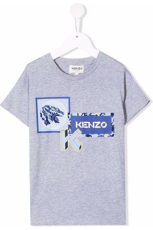 Kenzo Logo-print cotton T-shirt - Grey