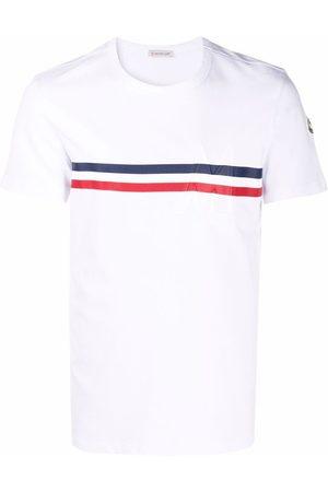 Moncler Men T-shirts - Tricolour-stripe T-shirt