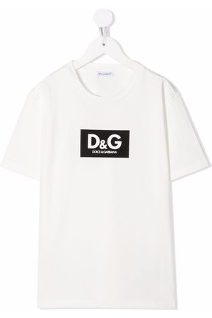 Dolce & Gabbana Boys Short Sleeve - Logo-print short-sleeve T-shirt
