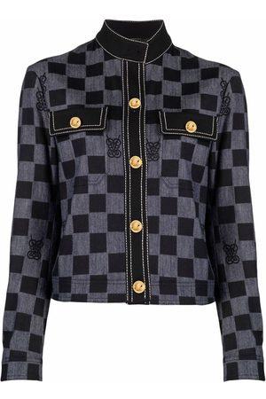 Giambattista Valli Checked chest-pocket jacket