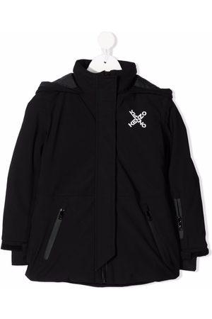 Kenzo Logo-print hooded coat