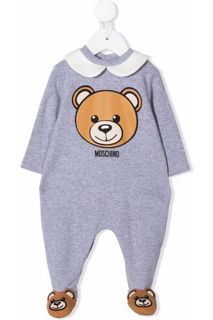 Moschino Teddy Bear-print stretch-cotton pajama - Grey