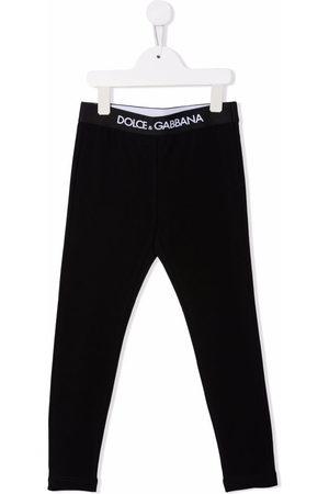 Dolce & Gabbana Logo-waistband cotton leggings