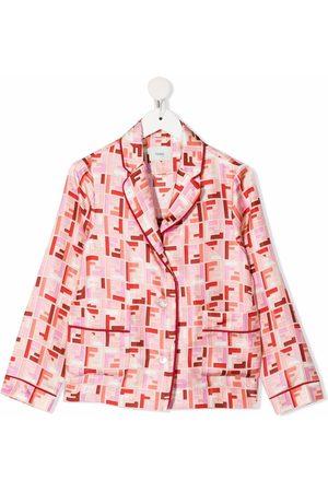 Fendi Girls Shirts - Chinese New Year FF-logo print shirt