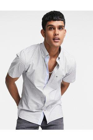 Tommy Hilfiger Soft stripe short sleeve shirt in navy