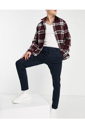 New Look Men Chinos - Skinny chino pants in navy