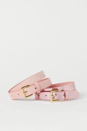 H&M 2-pack Shimmery Belts