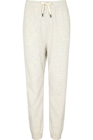 Isabel Marant Women Sweatpants - Maloni ecru cotton-blend sweatpants